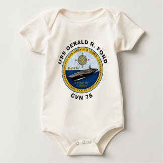 CVN-78 USS Gerald Ford Baby Bodysuit