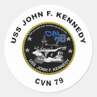 CVN-79 USS John Kennedy Classic Round Sticker
