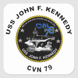 CVN-79 USS John Kennedy Square Sticker