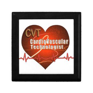 CVT HEART LOGO Cardiovascular Technologist Trinket Box