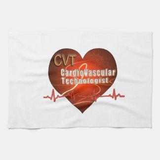 CVT HEART LOGO Cardiovascular Technologist Towels