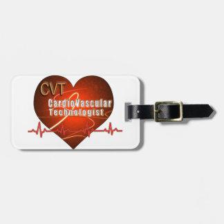 CVT HEART LOGO Cardiovascular Technologist Tags For Luggage