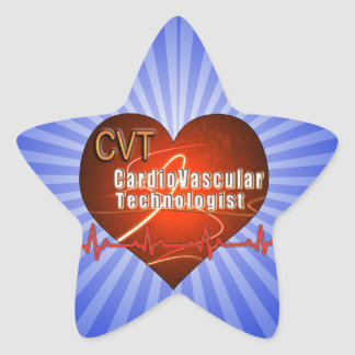 CVT HEART LOGO Cardiovascular Technologist Sticker