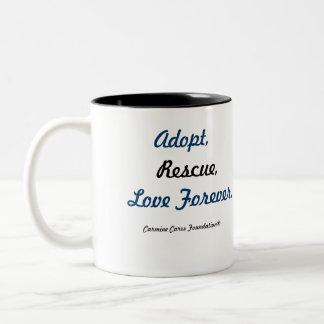 """CW3 """"Adopt, Rescue, Love Forever"""" Coffee Mug"""