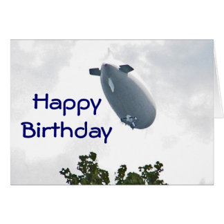 CW- Birthday Blimp Card