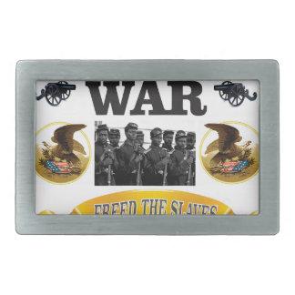 CW freed the slaves Rectangular Belt Buckle