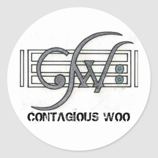 CW Logo, CONTAGIOUS WOO Classic Round Sticker
