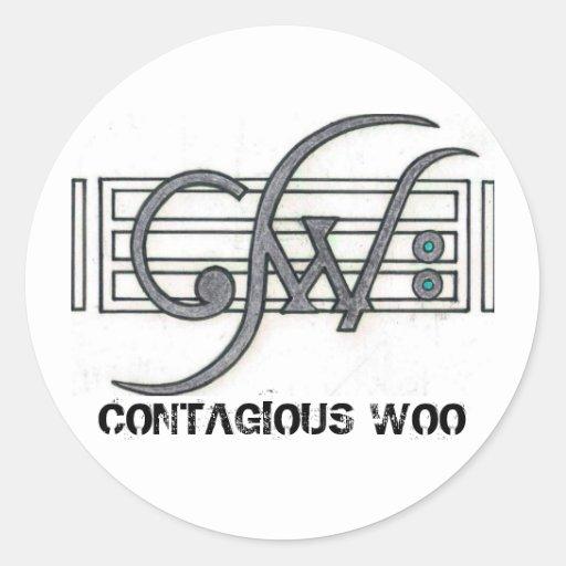 CW Logo, CONTAGIOUS WOO Round Sticker