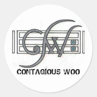 CW Logo CONTAGIOUS WOO Round Sticker