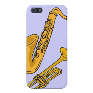 CW- Saxo and Trumpet i Case For iPhone SE/5/5s