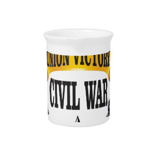 CW yellow banner art Drink Pitcher