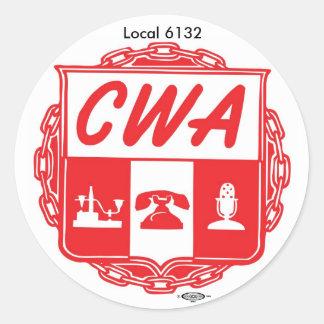 CWA_AUSTIN_LOGO, IBT-GCC_bug_small, Local 6132 Pegatina Redonda