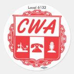 CWA_AUSTIN_LOGO, IBT-GCC_bug_small, Local 6132 Classic Round Sticker