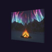 Cwm Aurora Canvas Print