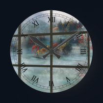 Cwm Autumn Frost Clock