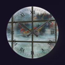Cwm Autumn Frost Clock
