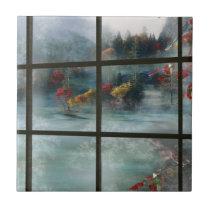 Cwm Autumn Frost Decorative Tile / Trivet