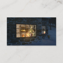 Cwm Christmas Bookmarks Business Card