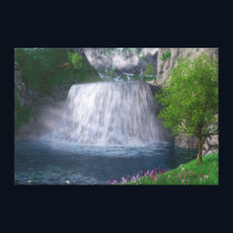 Cwm Waterfall Canvas Print