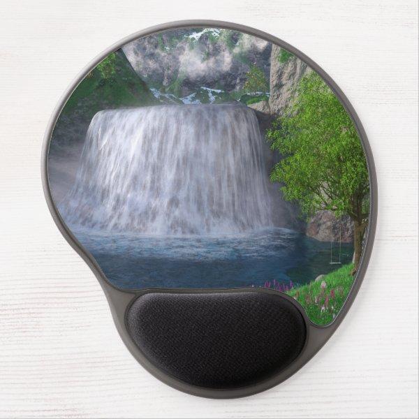 Cwm Waterfall Gel Mousepad