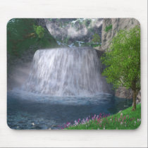 Cwm Waterfall Mousepad