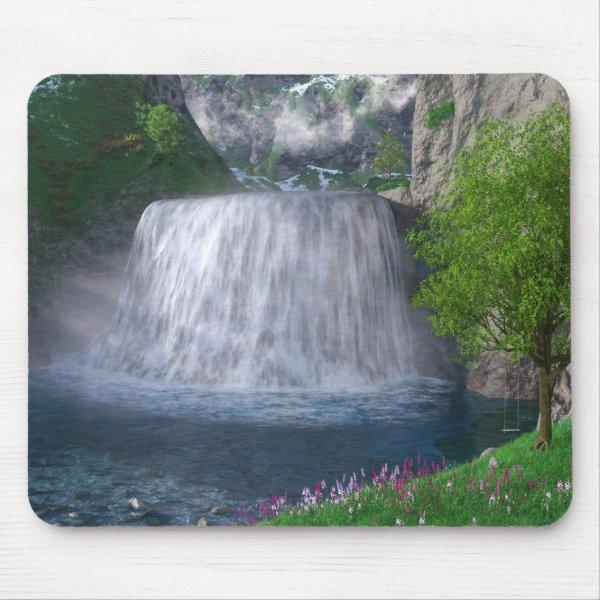 Cwm Waterfall Mousepad
