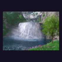 Cwm Waterfall Photo Print