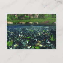 Cwn River Bookmarks Business Card