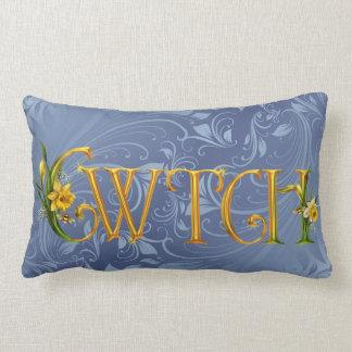 """""""Cwtch"""" Cuddle Daffodil Welsh Pillows"""