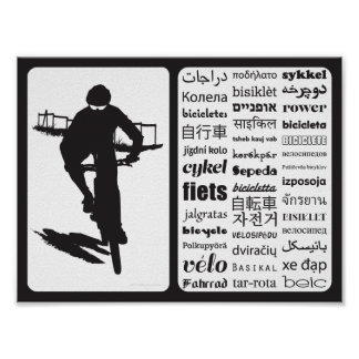 CX Bicycle - Bicycle in Different Languages Poster