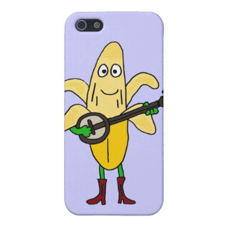 CX- Funny Banana Playing Banjo Cartoon iPhone SE/5/5s Cover