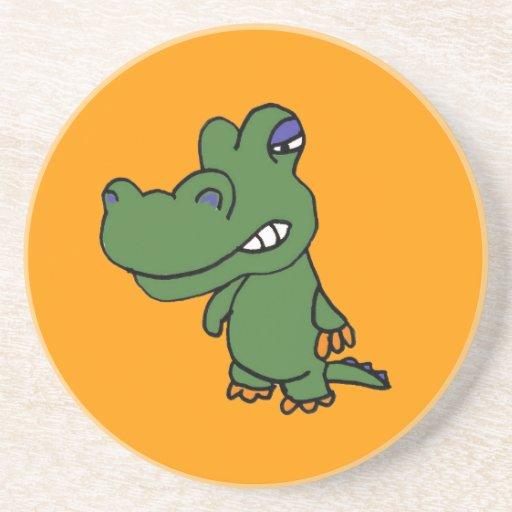 CX- Funny  Gator Cartoon Coasters