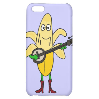 CX plátano divertido que juega el dibujo animado d