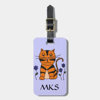 CY etiqueta linda del equipaje del gato del gatito Etiquetas Maletas