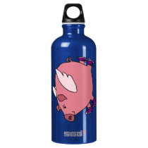 CY- Funny Flying Pig Aluminum Water Bottle