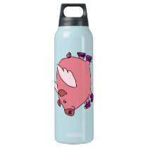 CY- Funny Flying Pig Insulated Water Bottle