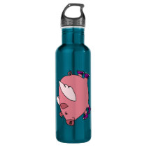 CY- Funny Flying Pig Stainless Steel Water Bottle