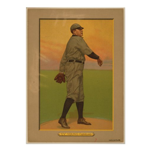 Cy Young, siestas de Cleveland Poster