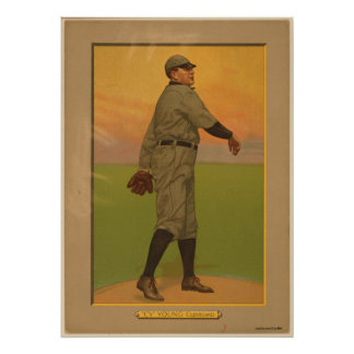 Cy Young, siestas de Cleveland Póster