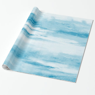 Cyan Abstract Wrapping Paper