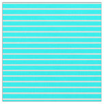 [ Thumbnail: Cyan and Beige Lines Fabric ]