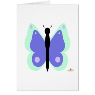 Cyan And Blue Butterfly Card