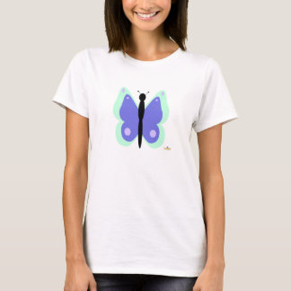 Cyan And Blue Butterfly T-Shirt
