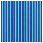 [ Thumbnail: Cyan and Dark Blue Lined Pattern Fabric ]