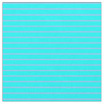 [ Thumbnail: Cyan and Light Sky Blue Pattern of Stripes Fabric ]