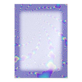Cyan And Purple Spiraling Lights Fractal Art Card