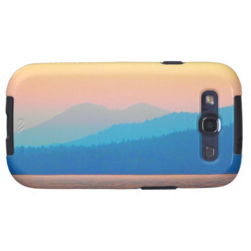 Cyan and Salmon Sunset Galaxy S3 Cases