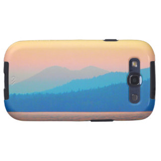 Cyan and Salmon Sunset Galaxy S3 Cover