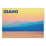 Cyan and Salmon Sunset Greeting Card