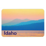 Cyan and Salmon Sunset Vinyl Magnet